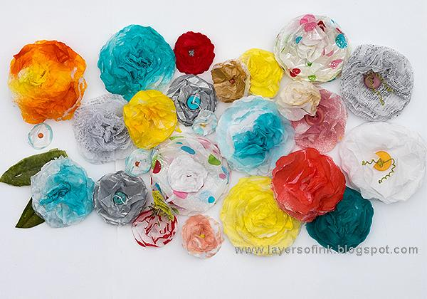 Sample projects tissue paper flowers skillshare projects i had such fun making tissue paper flowers in lots of sizes and colors for the class these are just some of them mightylinksfo