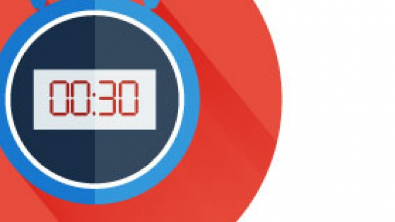 Angel's Stop Watch Flat Icon