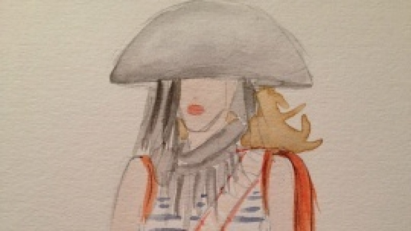 Final embellished watercolors: Silk and Tulle