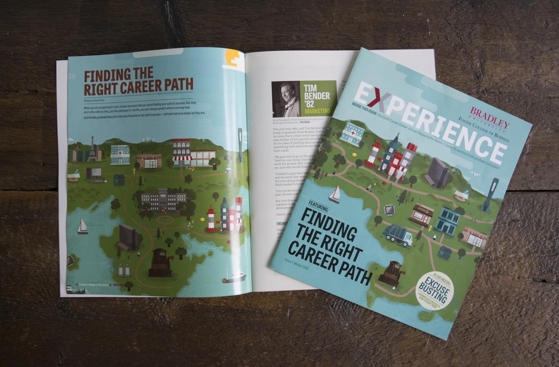 Editorial Illustration and Layout - University Magazine | Skillshare