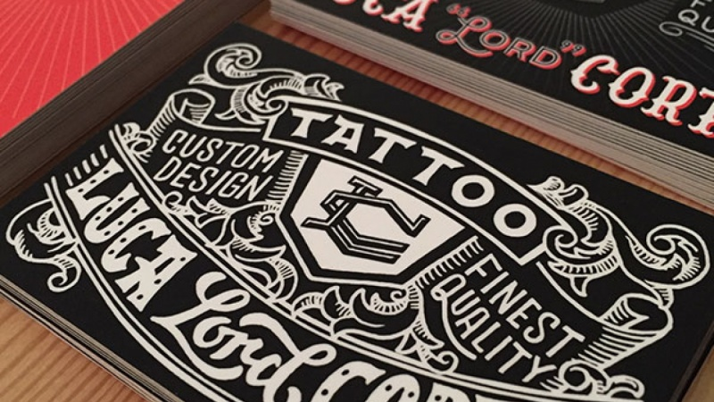 tattoo business card skillshare projects. Black Bedroom Furniture Sets. Home Design Ideas