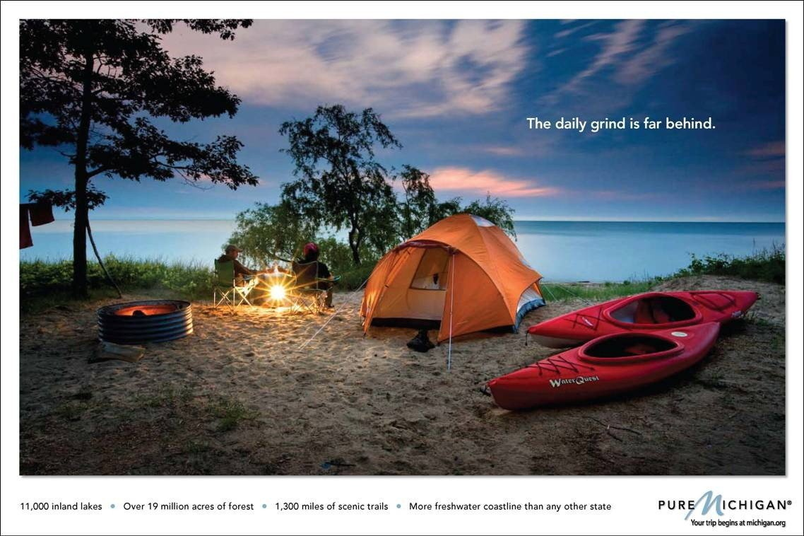 camping ads