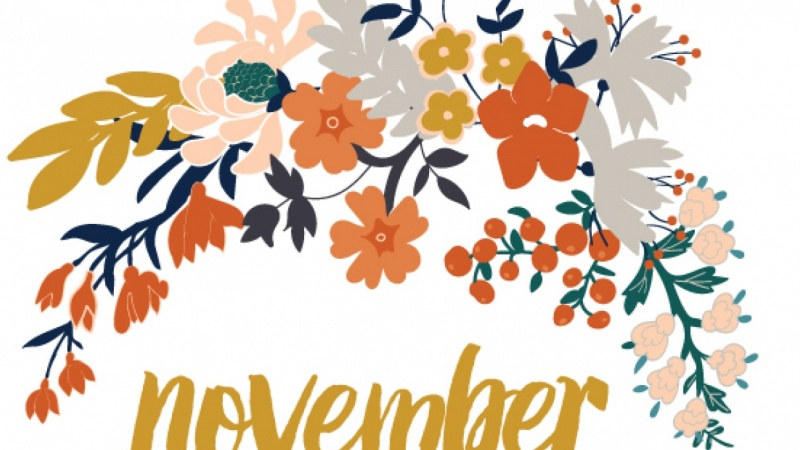 Floral calendar for October and November