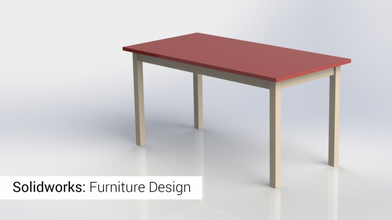 solidworks furniture: a simple desk/table | skillshare projects