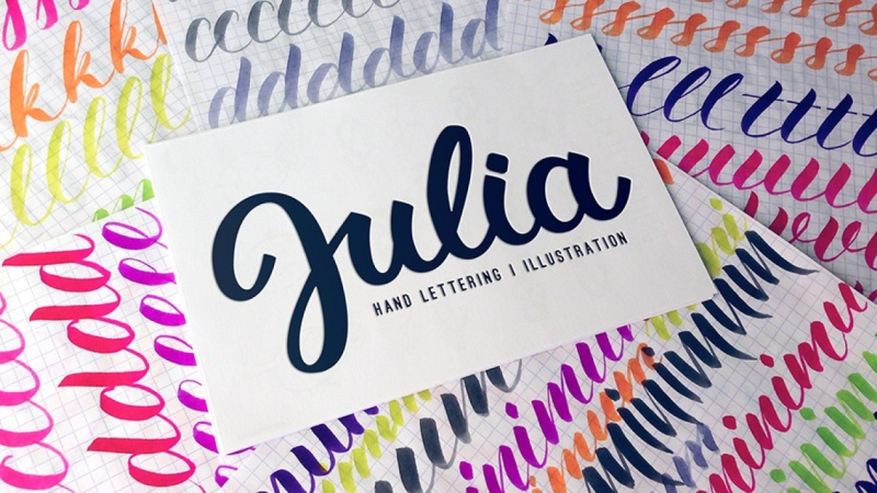 My name is.. | Brushpen logo design