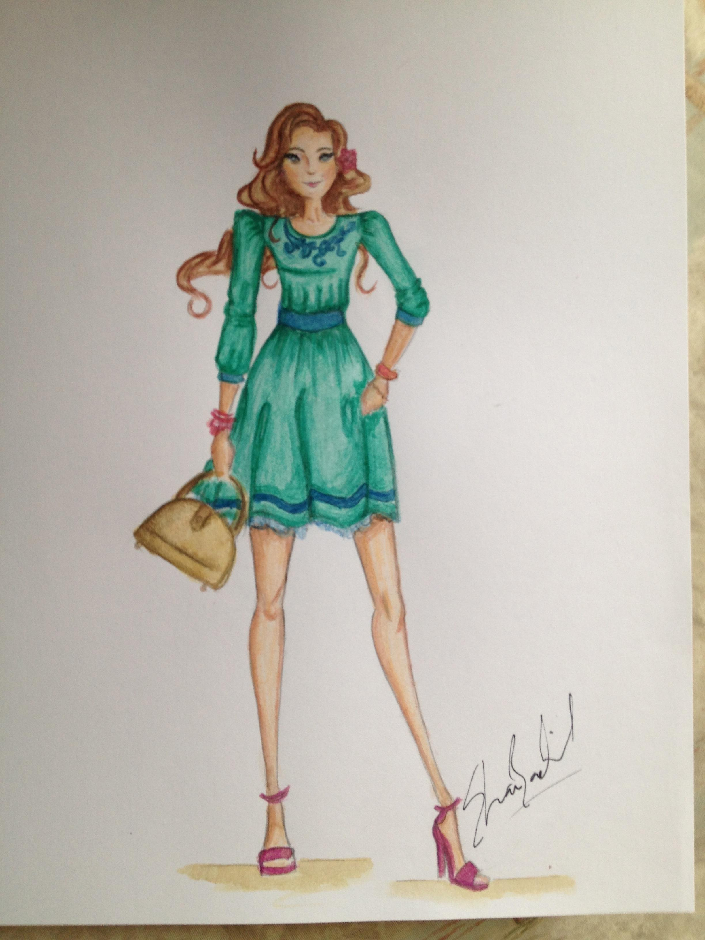 My Illustrations From Mannequin To Full Fashion Design Skillshare Projects