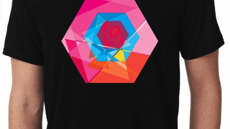 Geometric T-Shirt Designs Using a heat pressed Opaque Transfer
