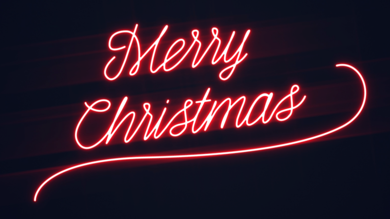 merry christmas neon light write on