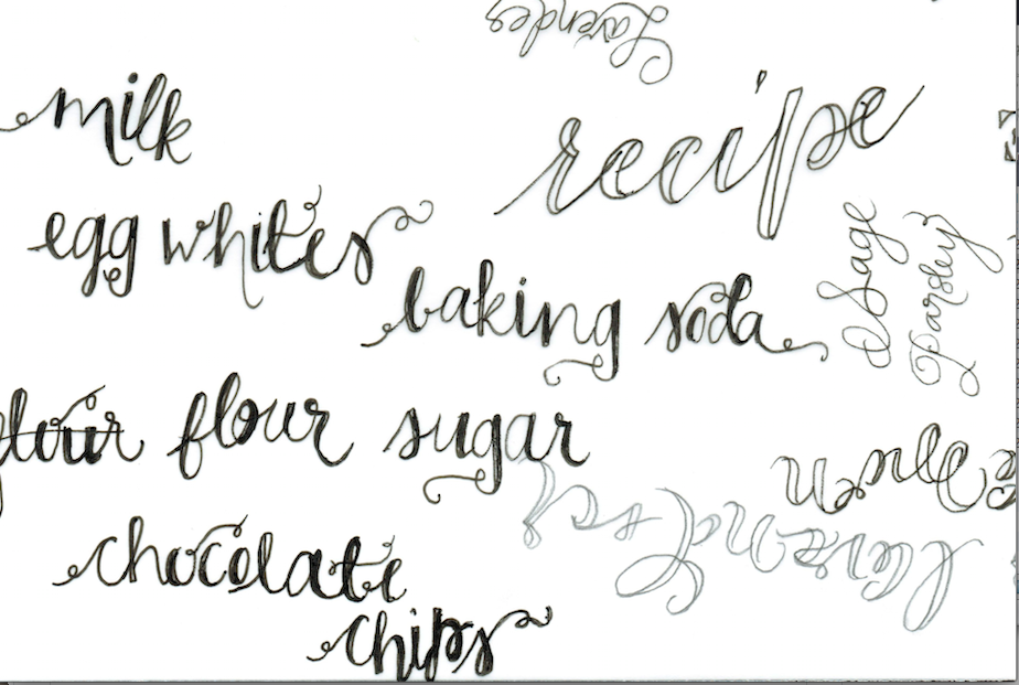 I Used A Monoline Ink Pen As Well Calligraphy To Experiment With Different Looks