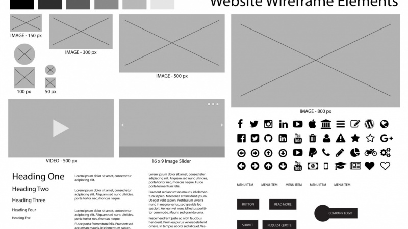Wireframe Elements in Illustrator
