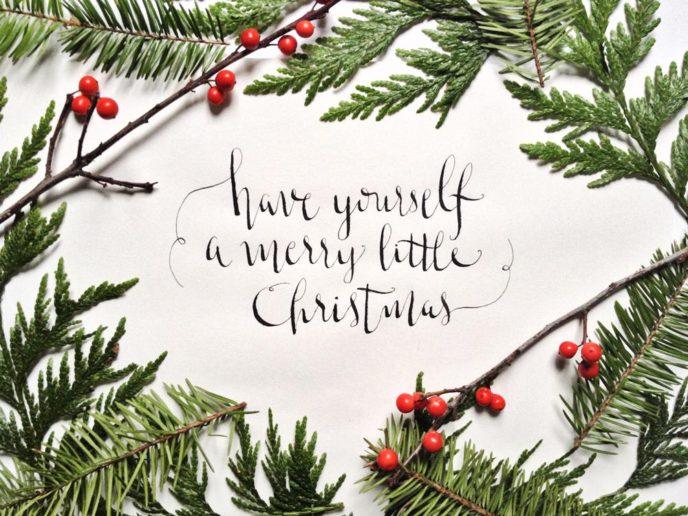 Christmas Calligraphy.Calligraphy Christmas Carols Skillshare Projects