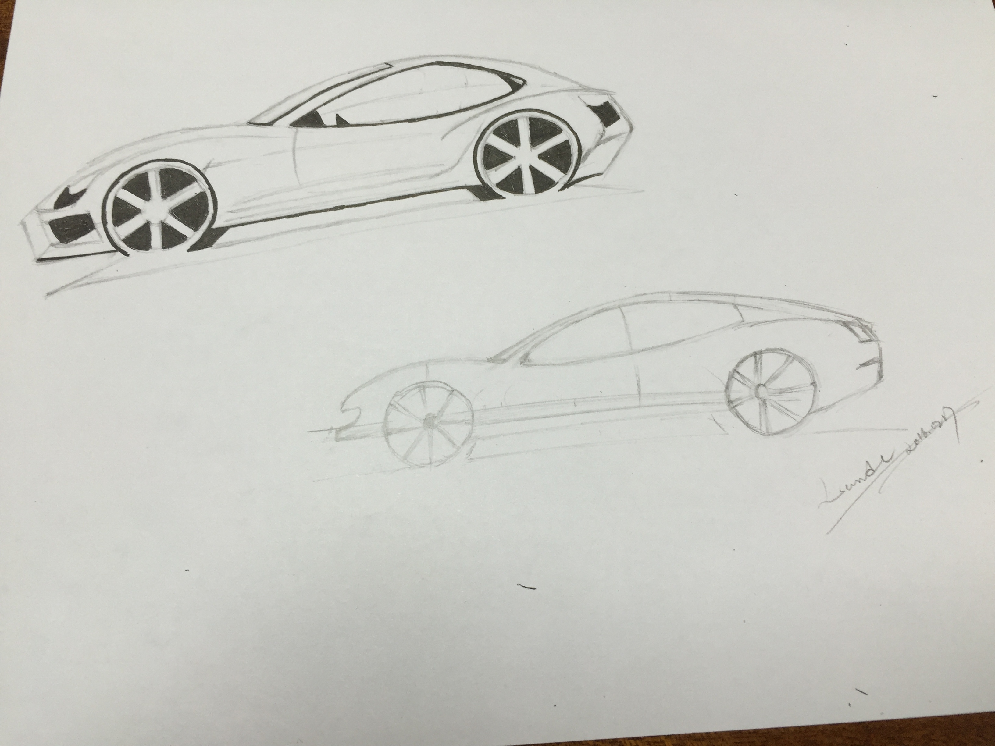 Line Drawing Car : Learn to draw a fancy car! skillshare projects