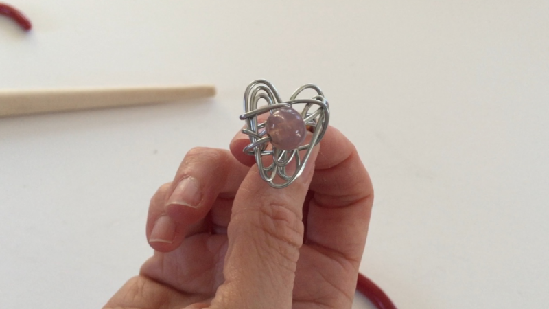 Crazy wire Sweetheart Ring