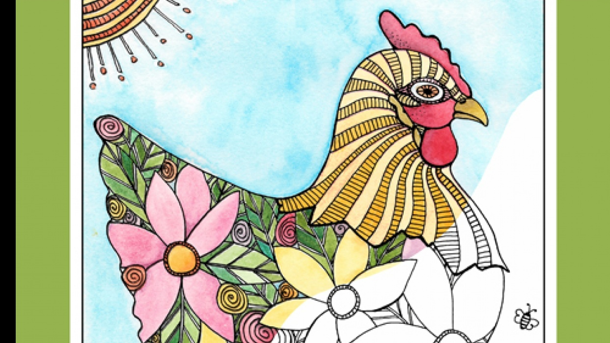 Creative Chickens Coloring Book | Skillshare Projects