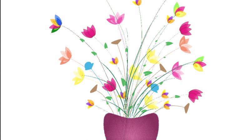 Hues of Spring Flowers