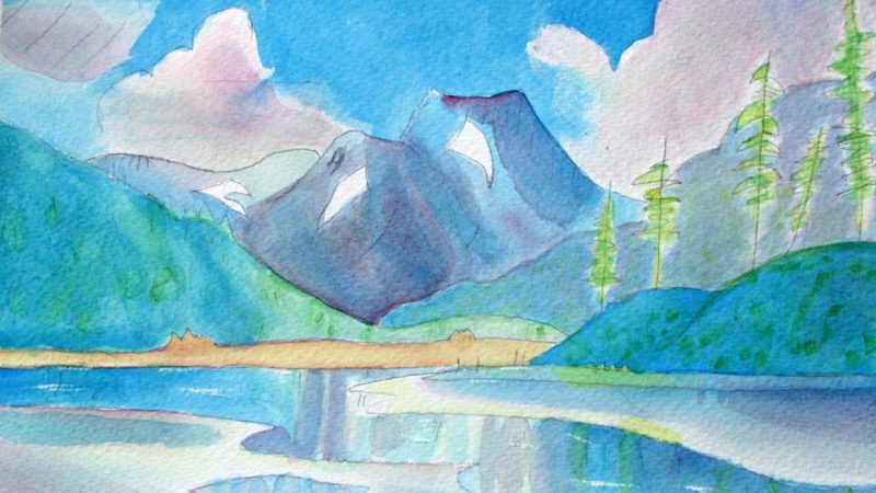 First Landscape in Watercolor