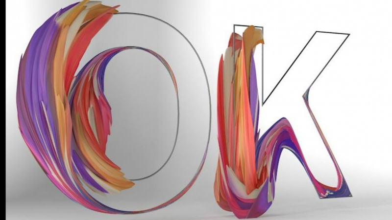 ok typography cinema 4d