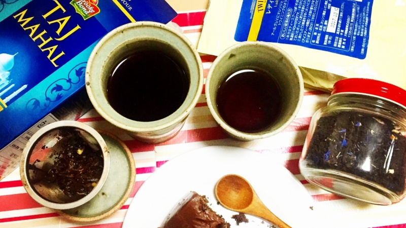 Pairing chocolate fudge cake with Assam and Lady Grey.