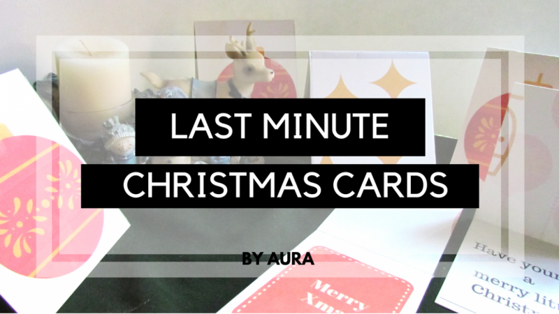 Last minute Christmas cards