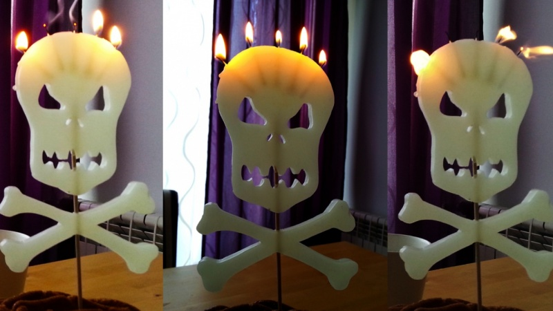 SKULL Birthday Candle!