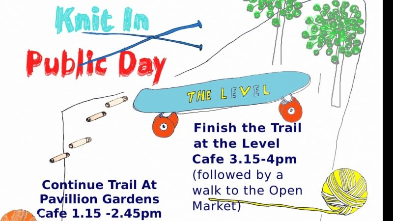 Knit In Public Day Trail Poster
