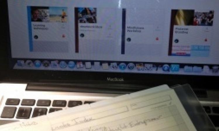 Memory Catalogue  using Circa notebooks and Springpad