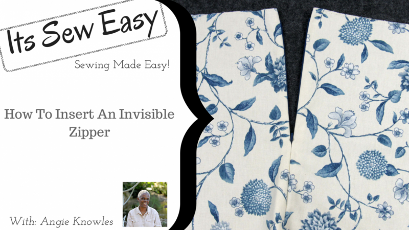 Its Sew Easy- Insert an Invisible Zipper | Skillshare Projects