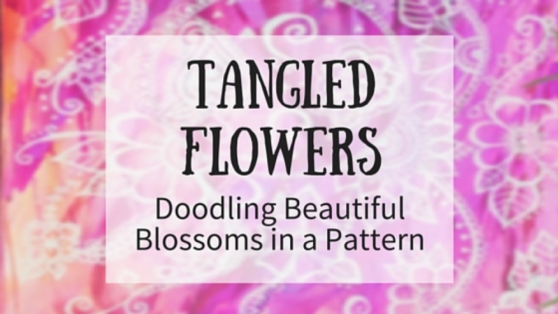 Tangled Flowers Drawing And Doodling Beautiful Flowers On Paper And