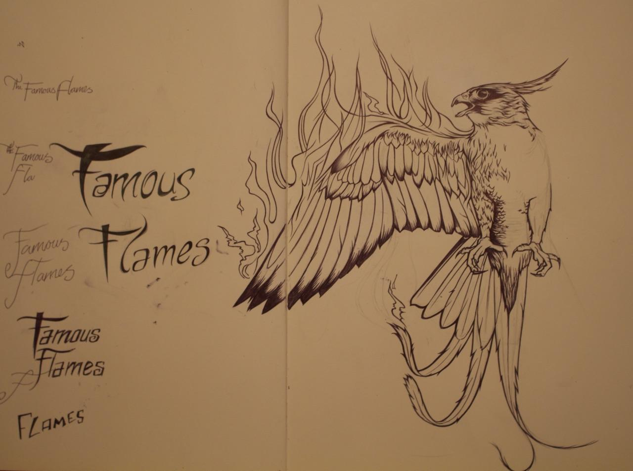 The Famous Flames Poster | Skillshare Projects