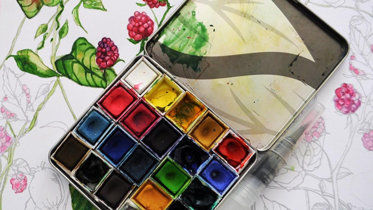 Cigarette Tin Watercolor Palette Skillshare Projects