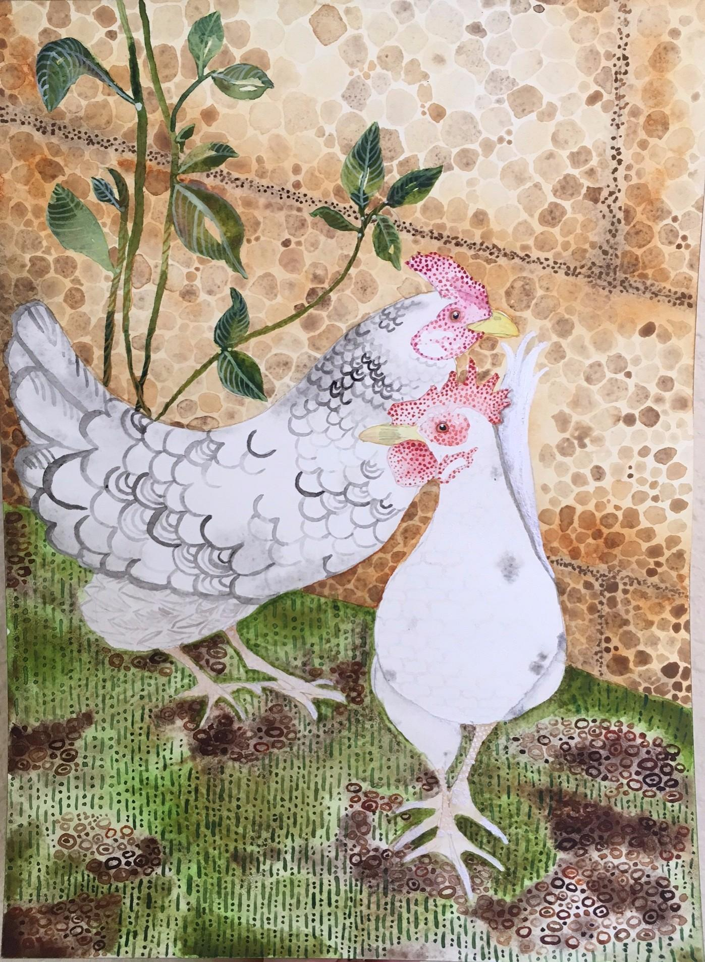 texture practice and my backyard chickens skillshare projects