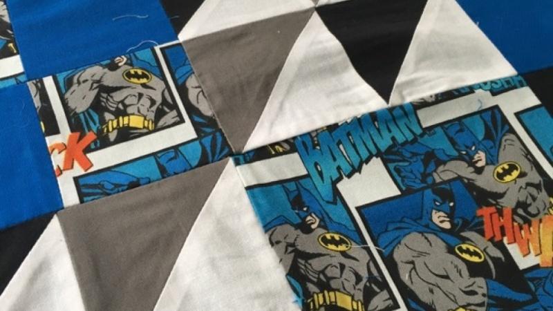 Batman quilt top