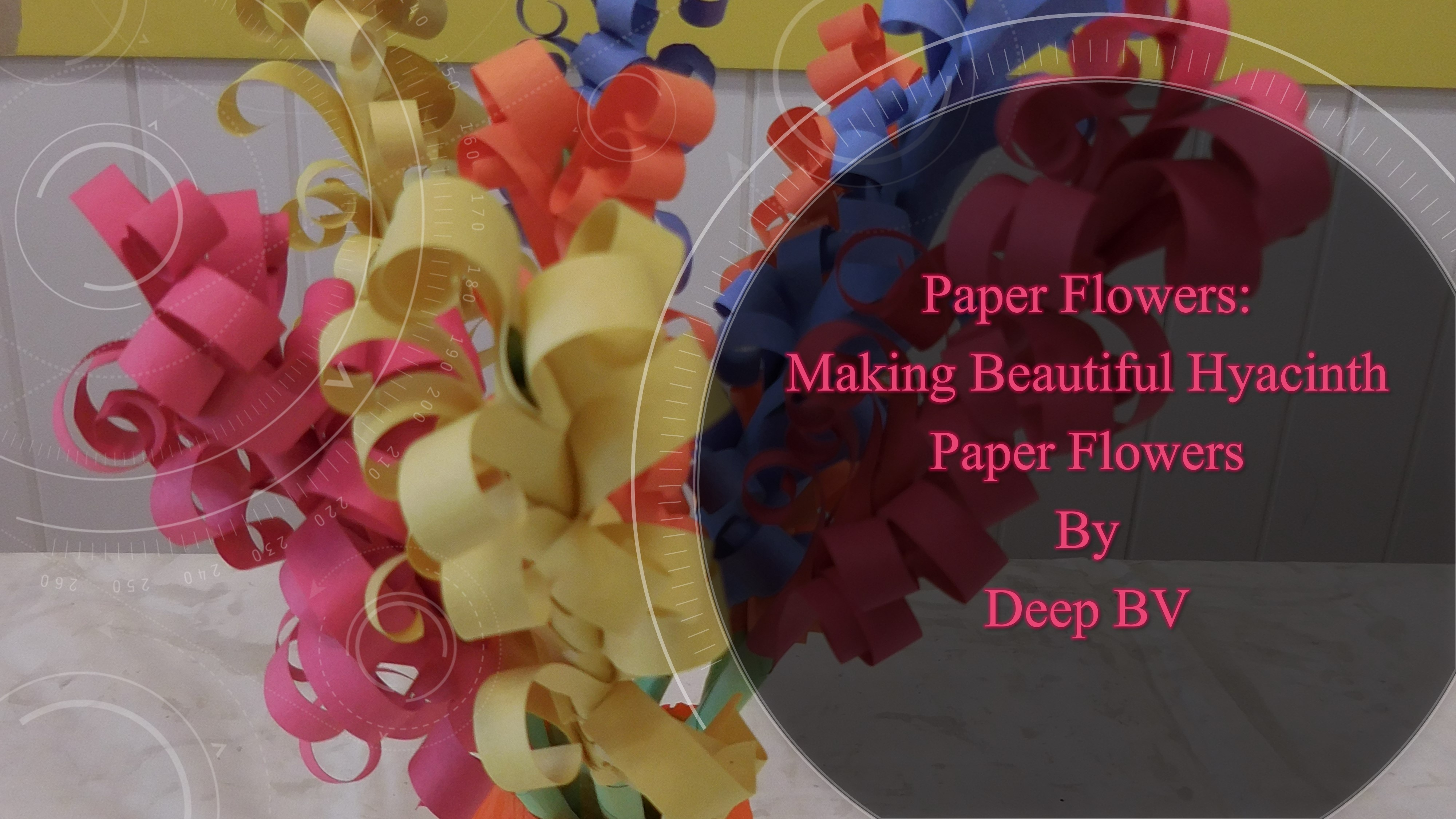 Paper Flowers Making Beautiful Paper Hyacinth Flowers Skillshare