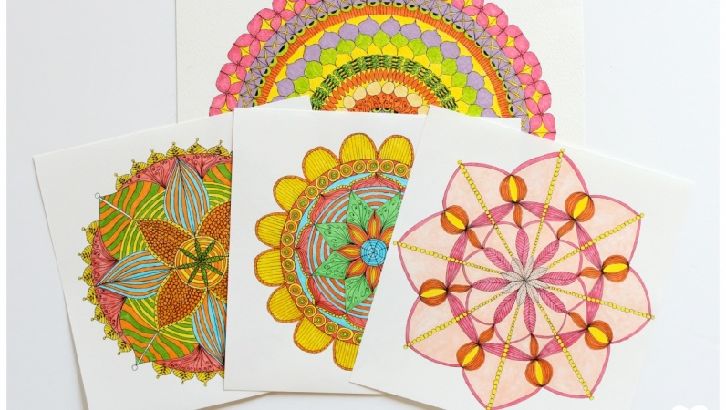 Published Quick And Easy Mandala Design Hand Draw Your Own
