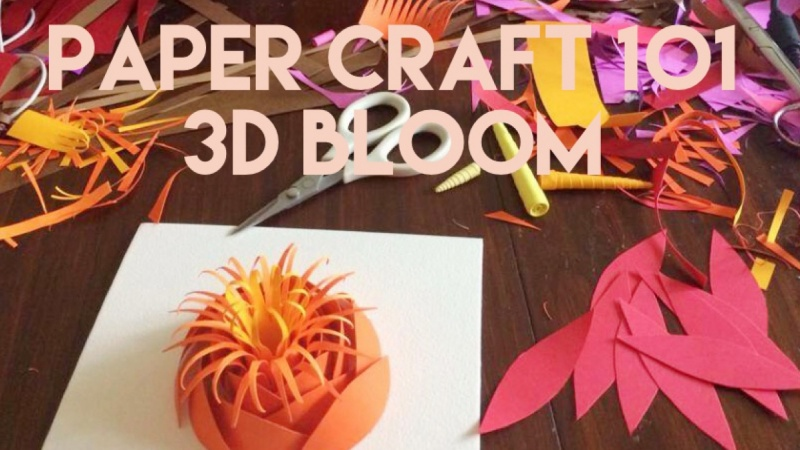 Paper craft 101 make a 3d paper flower skillshare projects paper craft 101 make a 3d paper flower mightylinksfo
