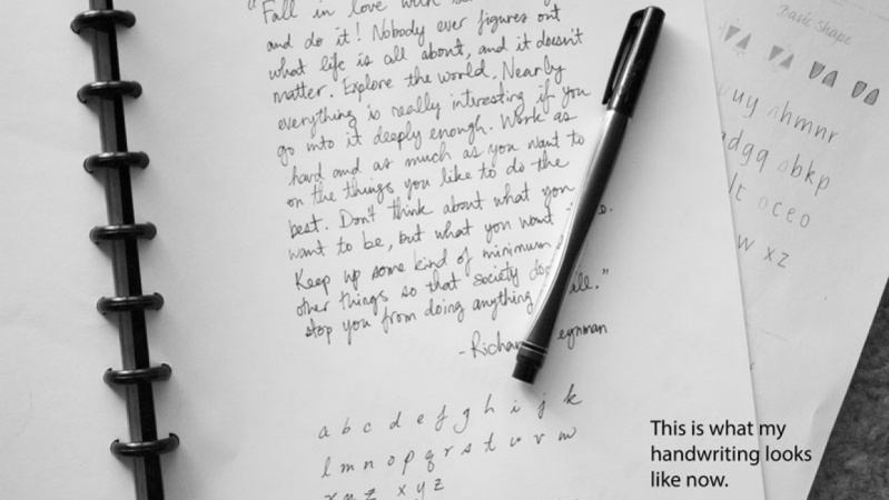 ANDRAIA'S Handwriting: the Basics in Italic Style Project
