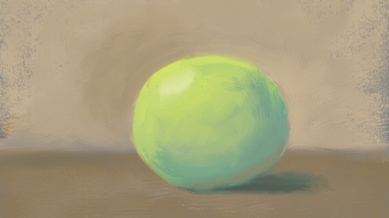 Photoshop Mixer Brush Oil Painted Ball