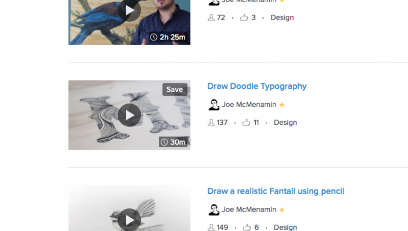 My Skillshare Art courses