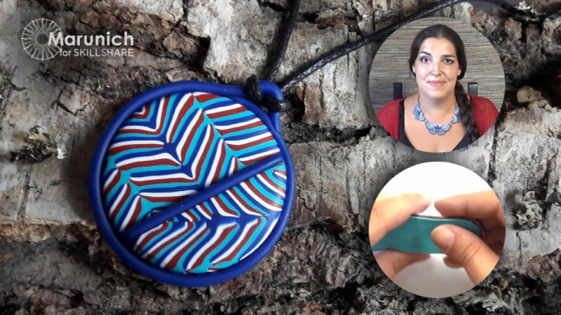 Polymer clay jewelry make your own pendant magic lines polymer clay jewelry make your own pendant magic lines skillshare projects aloadofball Images