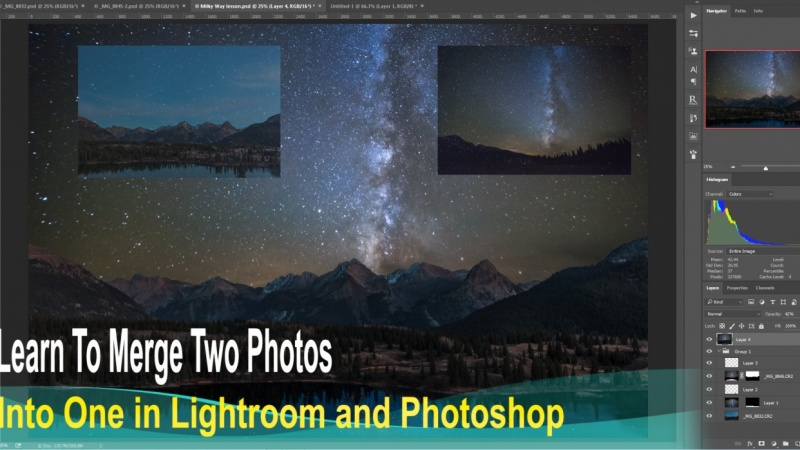 Astrophotography Part 2: Combining two different photos