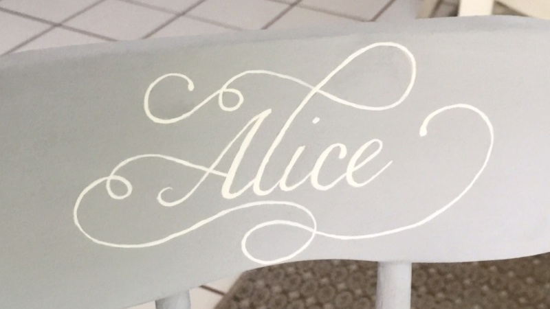 A rocking chair for Alice