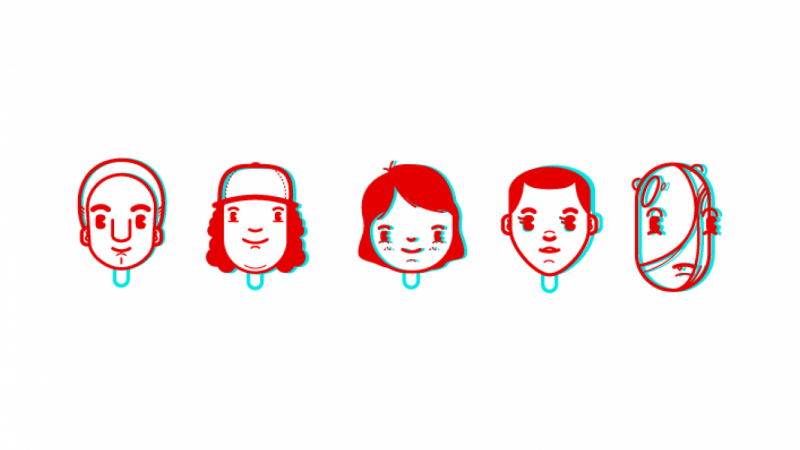 Stranger Things character icons