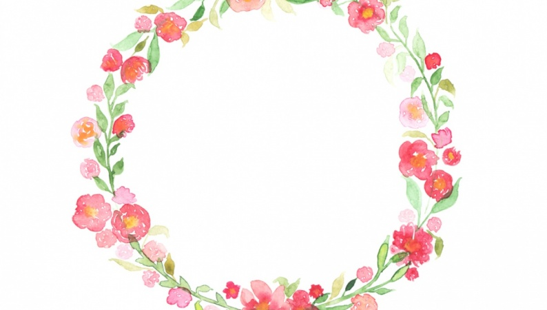 My watercolor wreath