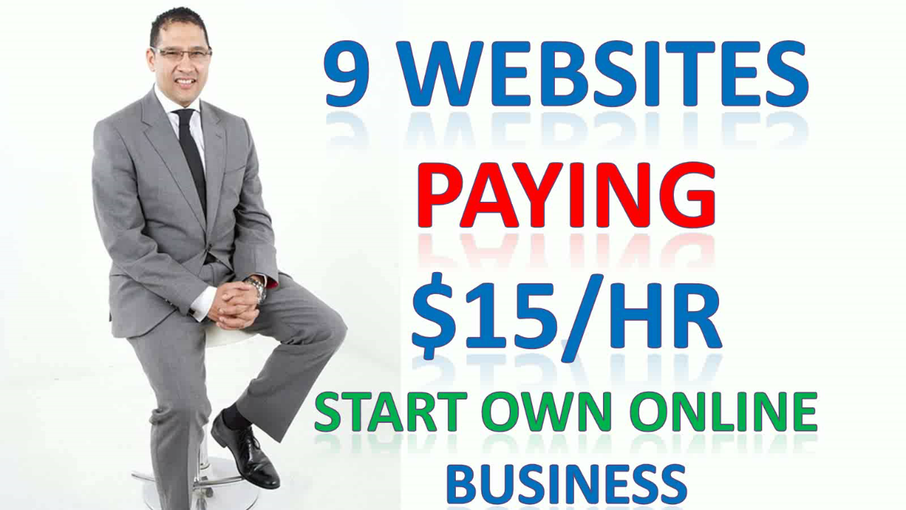 9 Websites Paying $15/Hr For Working From Your Home Online