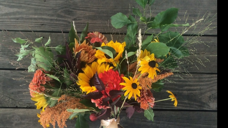 Rustic, fall inspired bouquet