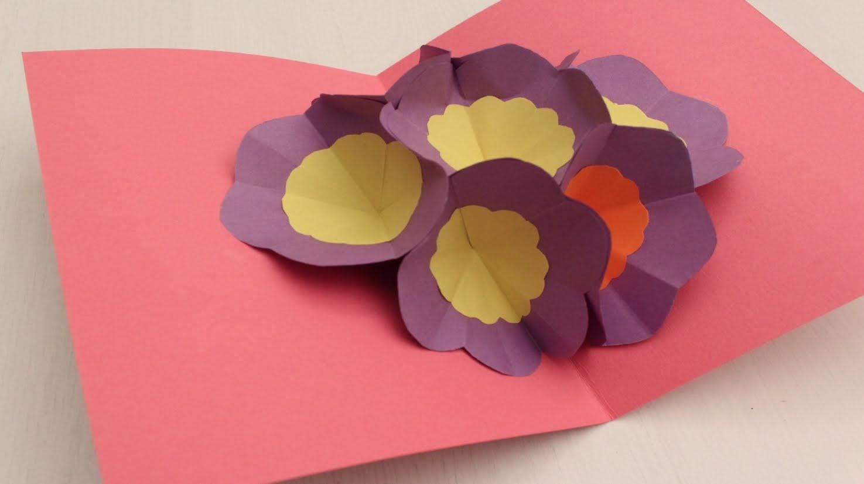 Поздравлением, открытка оригами на день матери