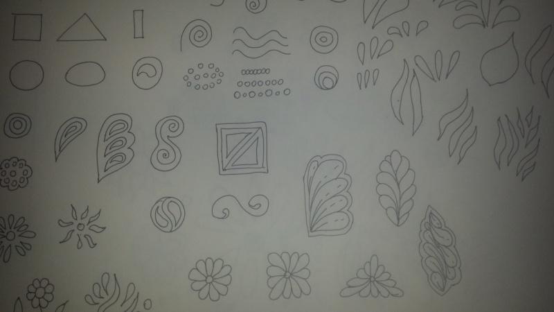 Formas básicas para hacer bellos mandalas y zentangles