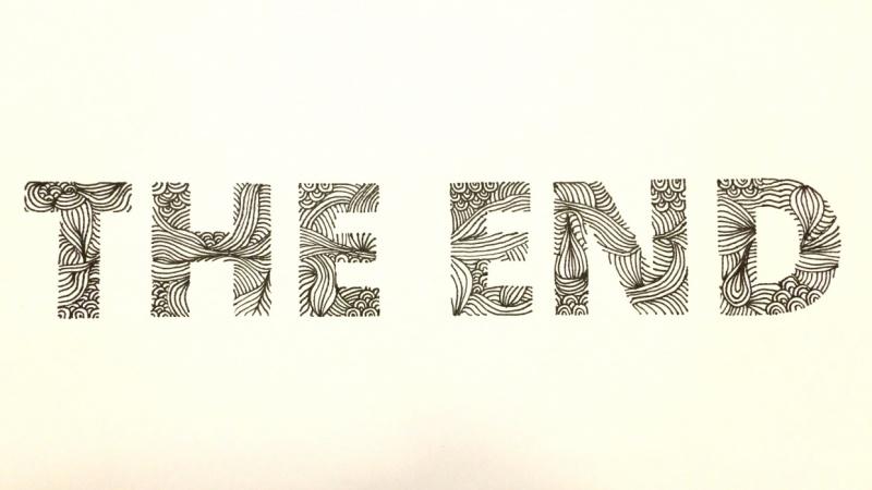 The End Doodle Font