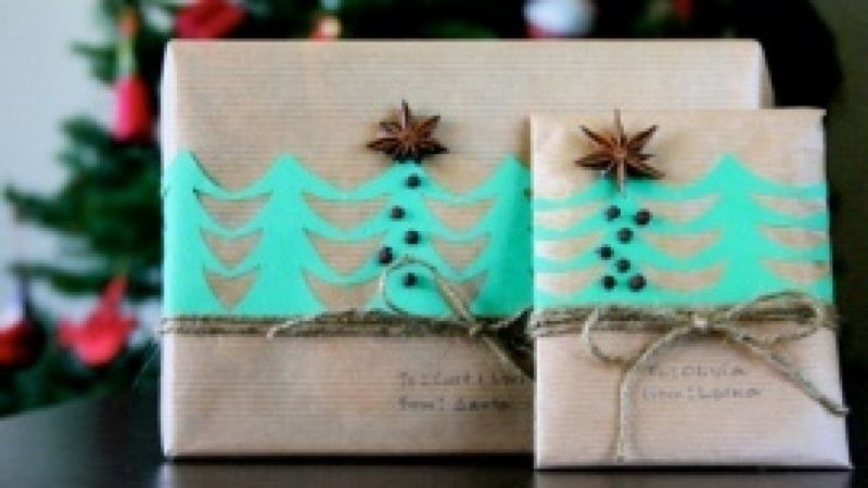 Earthy DIY Gift Wrapping for Christmas Gift!