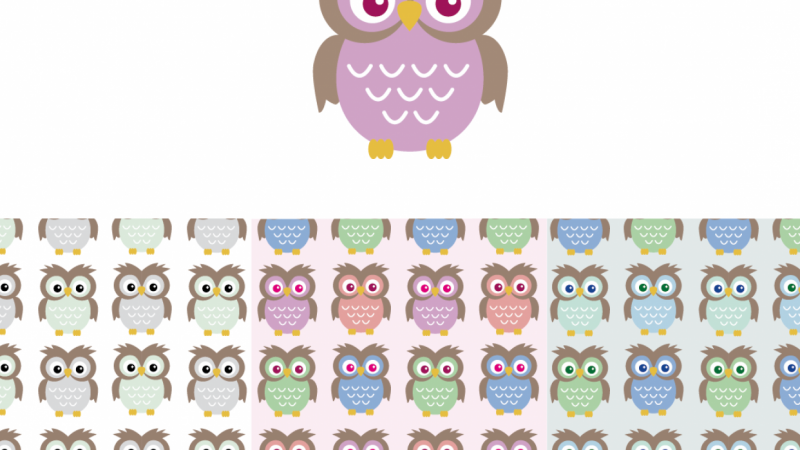Owls for kids print